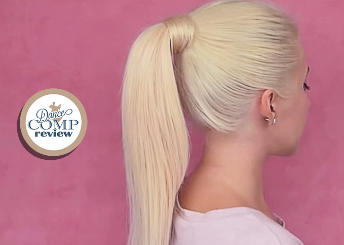 High Ponytail w/ Clip In Extensions Hairstyle Tutorial - Dance Comp ...