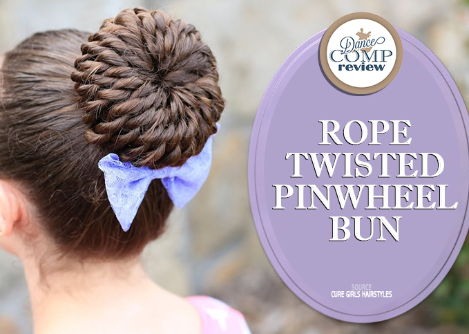 Remarkable Rope Twisted Pinwheel Bun Hairstyle Tutorial Dance Comp Review Hairstyle Inspiration Daily Dogsangcom