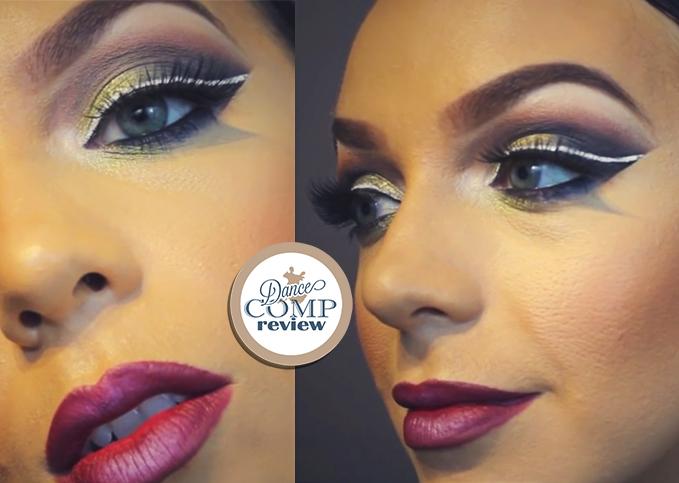 Mint Slice Eyes Burgundy Lips Makeup Tutorial Dance Comp Review