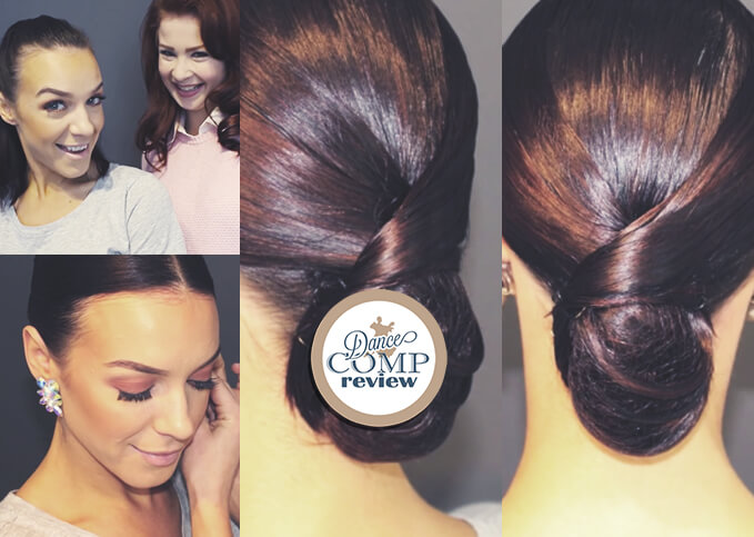 Sleek Low Bun With A Swirl Hairstyle Tutorial Dance Comp Review